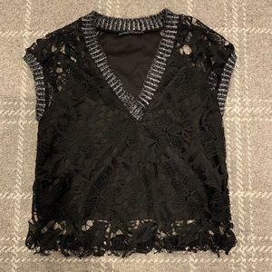 "Zara Lace Detail ""sweater"" shirt"